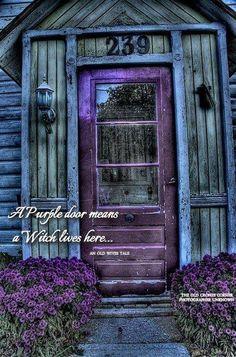 Meaning of the purple door