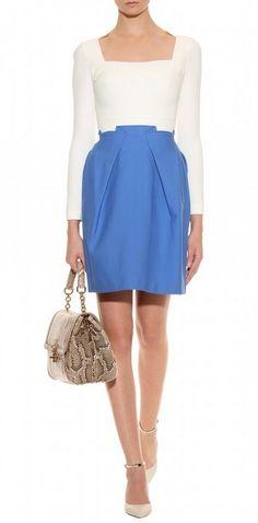 pleats on skirt