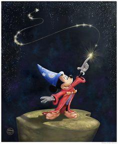 The Love of Disney: Wizard Mickey Photo