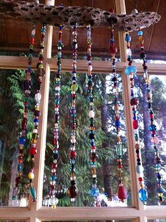 DIY Beaded Suncatcher Wind Chime | easy project using glass … | Flickr