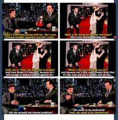Josh Hutcherson on Jennifer Lawrence.