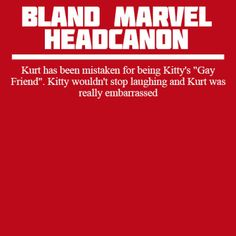 Bland Marvel Headcanon