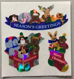 Sandylion+Merry+Christmas+Seasons+Greetings+Happy+Holidays+Retro+Rare+Vintage+XPM92
