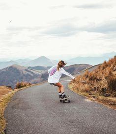 skateboard longboard girl