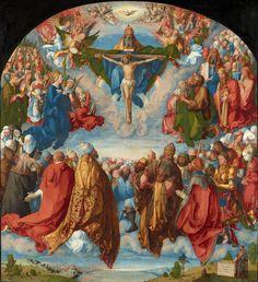Daily artworks: Albrecht Dürer (1471 - 1528) Adoration of the Trinity (Landauer Altar)