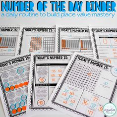 Are you looking for the perfect tool to build place value fluency and understanding? Have you discovered that your students aren't retaining the skills introduced during your place value unit? Searching for a low-prep, engaging routine that boosts place value skills? This Number of the Day Binder will help your students strengthen their place value understanding through daily place value modeling and reasoning routines.