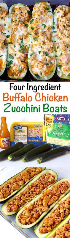 Chicken Zucchini Boats Buffalo Chicken Zucchini Boats - simple stuffed zucchini that only calls for four ingredients!Buffalo Chicken Zucchini Boats - simple stuffed zucchini that only calls for four ingredients! Healthy Cooking, Healthy Snacks, Healthy Eating, Low Carb Recipes, Cooking Recipes, Healthy Recipes, Advocare Recipes, Vegetarian Recipes, Candida Recipes