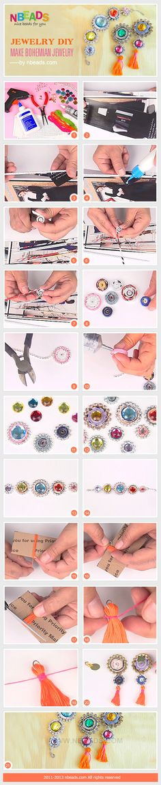 jewelry diy - make bohemian jewelry
