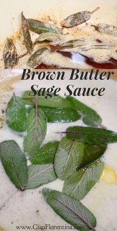 Brown Butter Sage Sauce | CiaoFlorentina.com @CiaoFlorentina