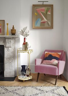 The Trolley - The Most Versatile Piece of Furniture You Will Own Rich Home, Pink Velvet, Project Yourself, Cosy, Accent Chairs, Upholstered Chairs
