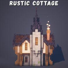 Minecraft Castle Blueprints, Minecraft Building Guide, Minecraft House Plans, Minecraft Cottage, Cute Minecraft Houses, Minecraft Room, Minecraft House Designs, Amazing Minecraft, Minecraft Creations