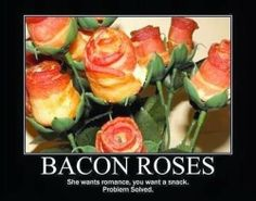 bacon roses - troll face comics