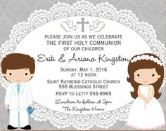 First Communion Invitation Printable First Holy Communion Boy And