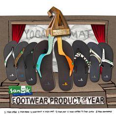 Sanuk yoga mat sandals - made from yoga mats. Soooo comfy. I'd love a pair