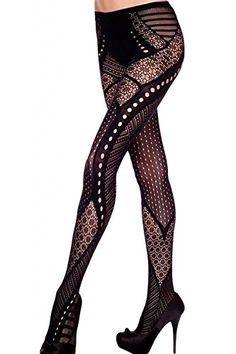 1191111ab07 Music Legs Spandex Multi Lace Design Pantyhose - Tragic Beautiful buy  online from Australia