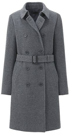 Uniqlo Women Wool Blended Trench Coat on shopstyle.com