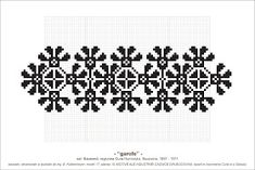 Semne Cusute: MOTIVE: garofe (P10, M17) Simple Cross Stitch, Cross Stitch Borders, Cross Stitch Designs, Cross Stitch Patterns, Embroidery Tattoo, Folk Embroidery, Cross Stitch Embroidery, Embroidery Designs, Knit Stranded