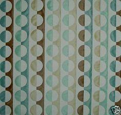Lee Jofa Geometric Circles Brown Teal Cream New   eBay