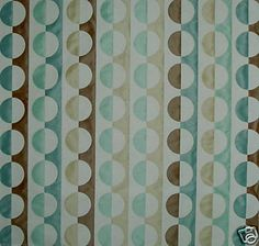 Lee Jofa Geometric Circles Brown Teal Cream New | eBay