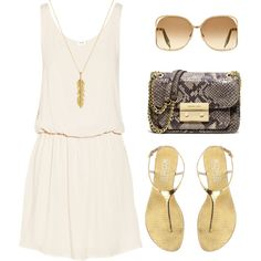 """""""Summer 2013 Cream"""" by lisantay on Polyvore"""