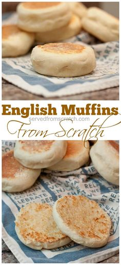 Making your own English Muffins from scratch is easier than you'd think and sooo tasty without sacrificing any of the nooks or crannies! #fromscratch #englishmuffins #homemade #homemadebread