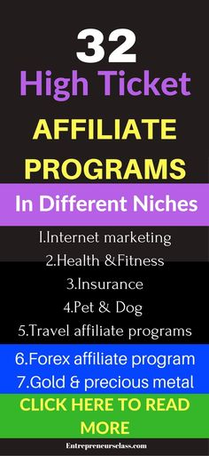 High ticket affiliate programs - Need high ticket affiliate marketing to increase your affiliate earning? Check out 32 high paying affiliate programs.The top high ticket selling products.