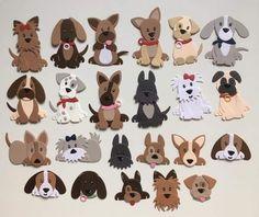 Felt Crafts, Crafts To Make, Paper Crafts, Paper Punch Art, Paper Art, Marianne Design Cards, Felt Dogs, Dog Cards, Animal Cards
