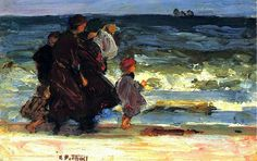 A Family at the Beach - Edward Potthast