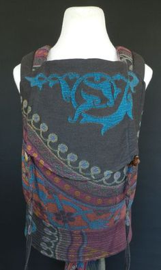Ocah Wrap Conversion Mei Tai made from a Didymos Orient wrap.