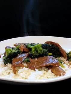 Beef and Broccoli - easy weeknight meal.  Took about 35 minutes, including slicing raw meat and cooking rice.  Next time might add some cayenne for spice and fresh ground ginger.  Kids liked, too.