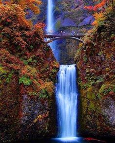 Mulnomah Falls in Oregon.