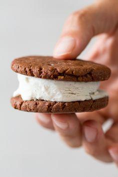 Vegan and gluten-free ice cream sandwiches - Lazy Cat Kitchen