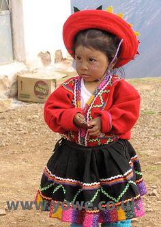 Peruvian girl in traditional dress