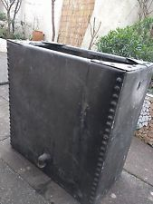 old galvanised studded water tank, ideal planter, garden trough