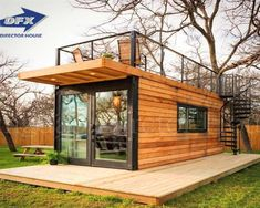 Tiny House Cabin, Tiny House Living, The House, Tiny Houses, Tiny House Hotel, Guest Houses, Cargo Home, Anchor Homes, Shipping Container Home Designs