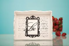Give a special someone breakfast in bed with this love tray made with the Sophisticated cartridge! #cricut