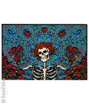 skeleton and roses fleece blanket grateful dead blankets n towels