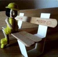 اعمال يدوية بالخشب للاطفال سهلة وأفكار فنية لعمل ألعاب بسيطة من أعواد الايس كريم الخشبية Knife Block