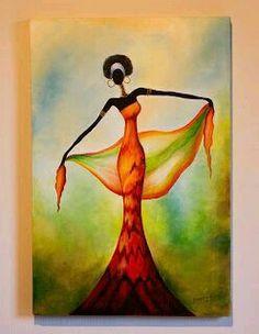Paper n fabric Afrique Art, African Art Paintings, African Theme, Art Africain, Black Artwork, Silhouette Art, African American Art, Fabric Painting, Rock Art