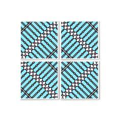 I 4 moduli possono essere ruotati di 90° o 180°, in senso orario o antiorario, per dare forma a nuove geometrie: una X, un rombo. E perché no, posizionati uno di seguito all'altro a formare una lunga linea ZIG-ZAG... Questo fine settimana, giocate con l'immaginazione insieme a PIT-POP! http://www.lovethesign.com/prodotti/complementi/stampe/pit-pop-disegni-superficie/tela-intersezioni-di-bottiglie4-moduli