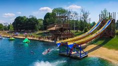 In Ohio With an adventure water park, RV resort and campground, Clay's Park Resort is the perfect place to spend a summer weekend. Camping In England, Camping In Ohio, Camping Places, Camping Spots, Camping Gear, Camping Cabins, Camping Equipment, Water Playground, Camping Resort