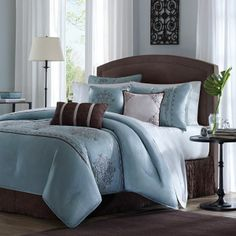 Image detail for -stylish light blue comforter set