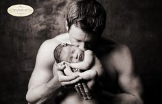 dad and baby - cant wait to take pics of Kev and our little girl like this. :)