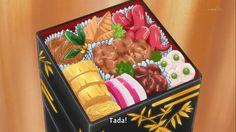 Are you into bento boxes? Anime Bento, Japanese Dishes, Japanese Food, Aesthetic Food, Aesthetic Anime, Cute Food, Yummy Food, Healthy Food, Healthy Recipes