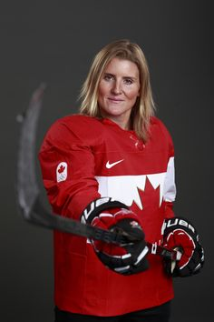 Canada hockey player Hayley Wickensheiser, Sochi 2014. This woman is INSANELY good!