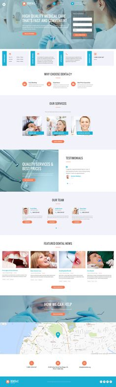 Dental Center is a fully editable template intended to adjust to any screen size possible. Looking for a way to take your dental care business online. 35 ready-to-use HTML pages and customized interface are there to help you create a unique version of you Template Web, Website Template, Templates, Medical Care, Dental Care, Page Web, Dental Center, Ui Web, Wellness Programs