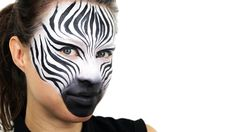 A zebra face paint tutorial from the super-talented Ashlea Henson. With the summer holidays comes summer fairs and parties, so learn how to create a striking...