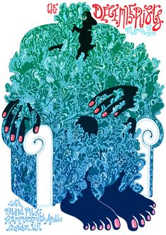 Poster by Zeloot for the Decemberists gig in London. Wish I had been there - and had the poster!
