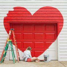 Painting love on the studio :)