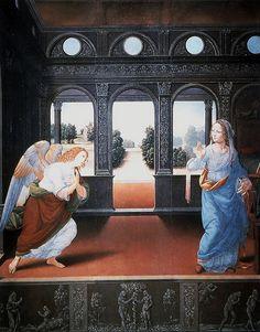 Lorenzo di Credi. Annunciation,1470s